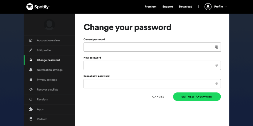 Change Your Spotify Password