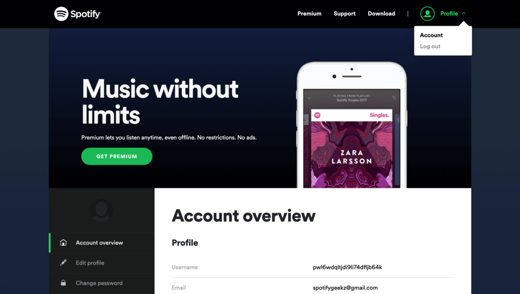 Spotify Account Overview